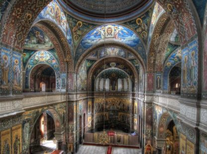 Новоафонский монастырь. Вид внутри монастыря.
