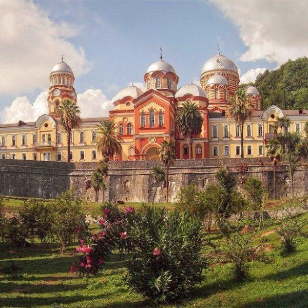 Экскурсия в Абхазию. Мужской монастырь в Новом Афоне. Фото.