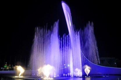 Олимпийский парк Сочи. Шоу фонтанов.