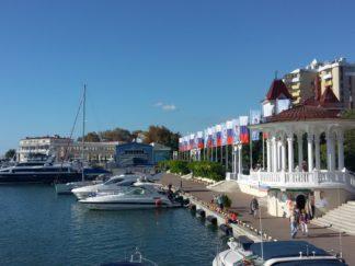 Морской порт в Сочи. Фото