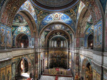 Монастырь вид внутри. Фото на экскурсии в Абхазию.